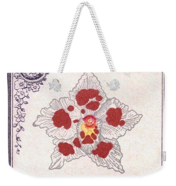 1947 Colombia Odontoglossum Orchid Stamp Weekender Tote Bag