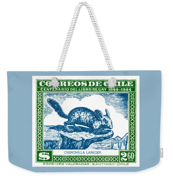 1948 Chile Long Tailed Chinchilla Postage Stamp Weekender Tote Bag