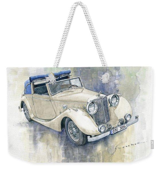 1948 Jaguar Mark Iv Dhc Weekender Tote Bag