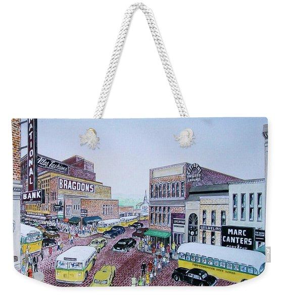 Rush Hour Portsmouth Ohio 1948 Weekender Tote Bag