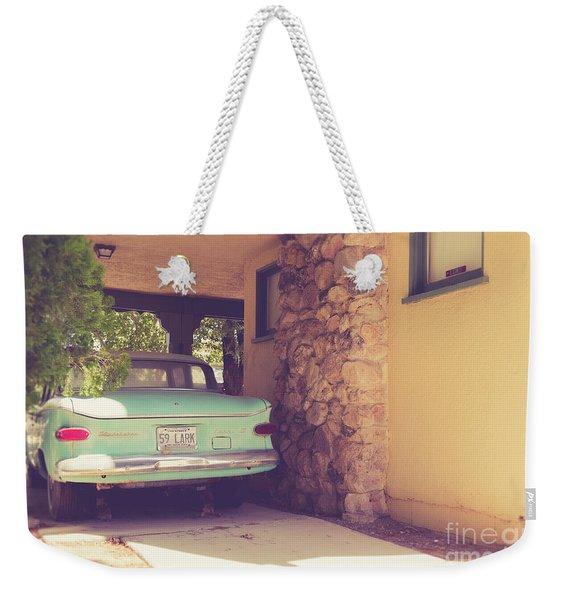 1950s Vintage Car And Home Weekender Tote Bag