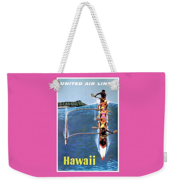 1953 United Airlines Hawaii Travel Poster Weekender Tote Bag