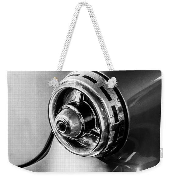 1954 Ford Crestline Tail Light -0191bw Weekender Tote Bag