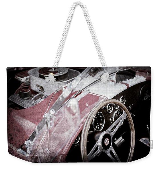 1955 Ac Cobra Steering Wheel - Engine -1043ac Weekender Tote Bag