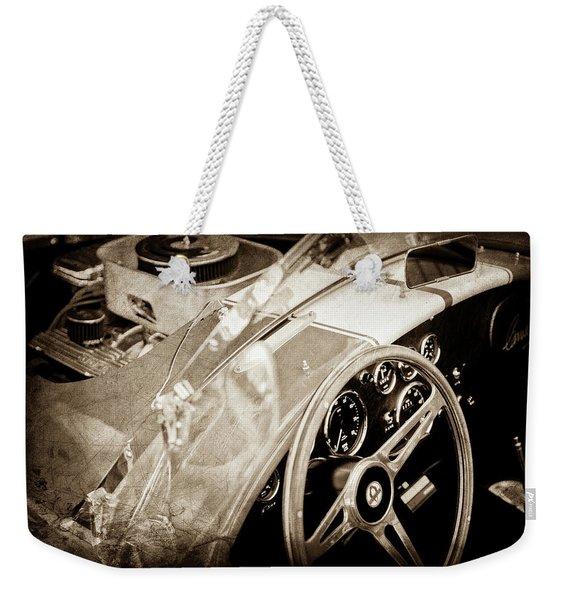 1955 Ac Cobra Steering Wheel - Engine -1043s Weekender Tote Bag
