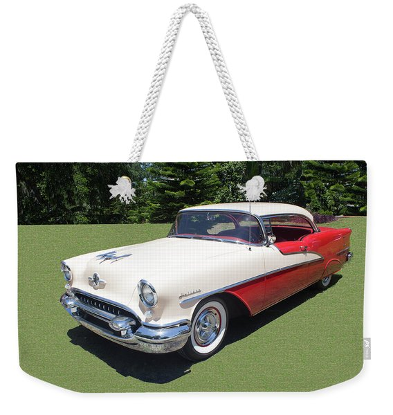 1955 Oldsmobile Super 88 Holiday Weekender Tote Bag