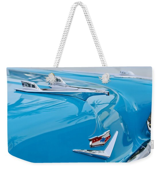 1956 Chevrolet Belair Nomad Hood Ornament Weekender Tote Bag