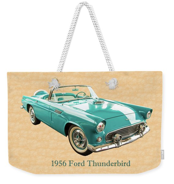 1956 Ford Thunderbird 5510.03 Weekender Tote Bag