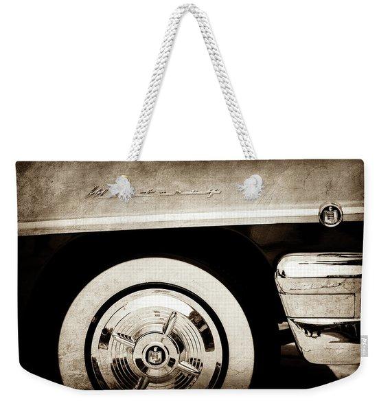 1956 Mercury Monterey 2-door Hardtop Wheel Emblems -0898s Weekender Tote Bag