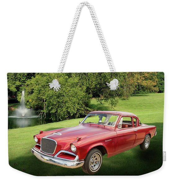1956 Studebaker Power Hawk 5543.03 Weekender Tote Bag