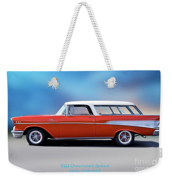 1957 Chevrolet 'fuel Injected' Nomad Weekender Tote Bag