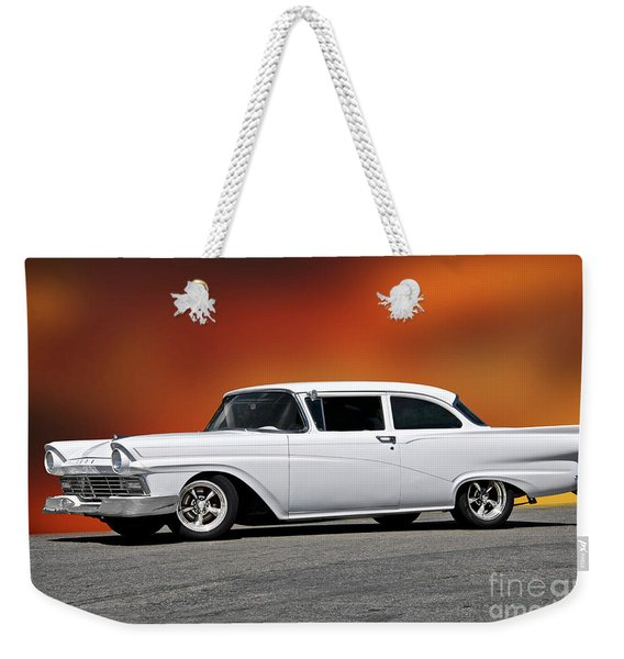 1957 Ford Business Coupe I Weekender Tote Bag
