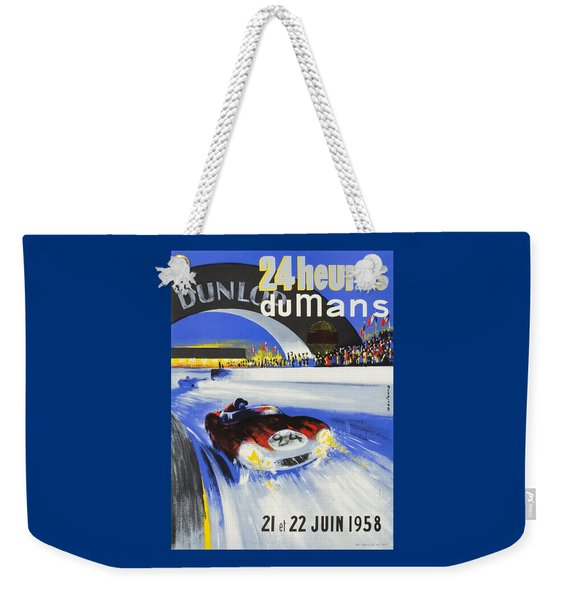 1958 24h Le Mans Grand Prix Automobile Race Poster Weekender Tote Bag
