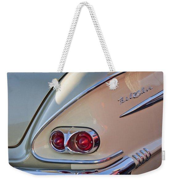 1958 Chevrolet Belair Taillight Weekender Tote Bag