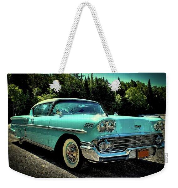 1958 Chevrolet Impala Weekender Tote Bag