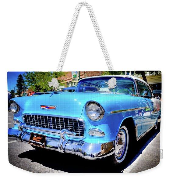 1955 Chevy Baby Blue Weekender Tote Bag