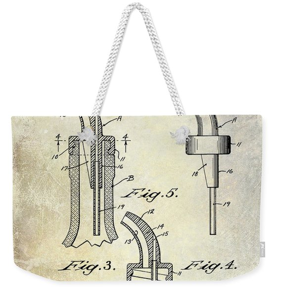 1958 Liquor Bottle Pour Patent Weekender Tote Bag