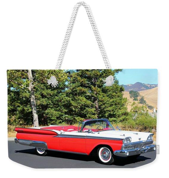 1959 Ford Fairlane 500 Weekender Tote Bag