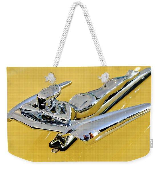 1959 Nash Metropolitan Coupe Hood Ornament Weekender Tote Bag