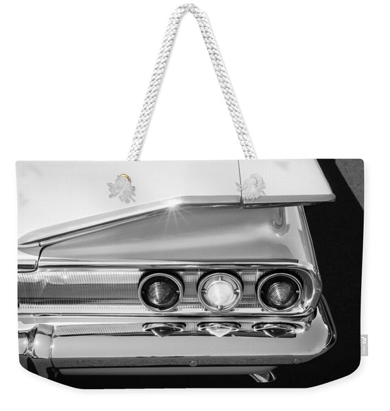 1960 Chevrolet Impala Tail Lights -175bw Weekender Tote Bag