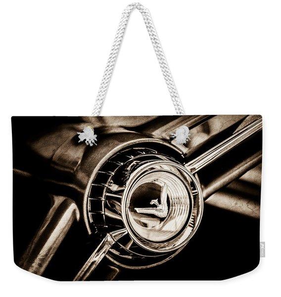 1960 Desoto Fireflite Two-door Hardtop Steering Wheel Emblem -0950s Weekender Tote Bag