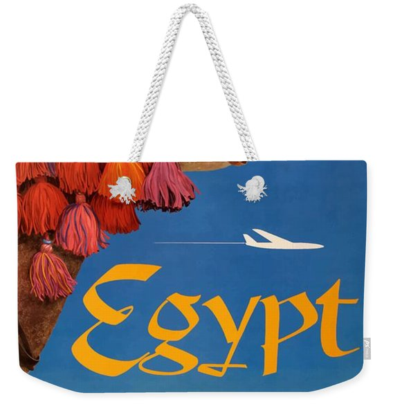 1960 Egypt Twa David Klein Travel Poster  Weekender Tote Bag