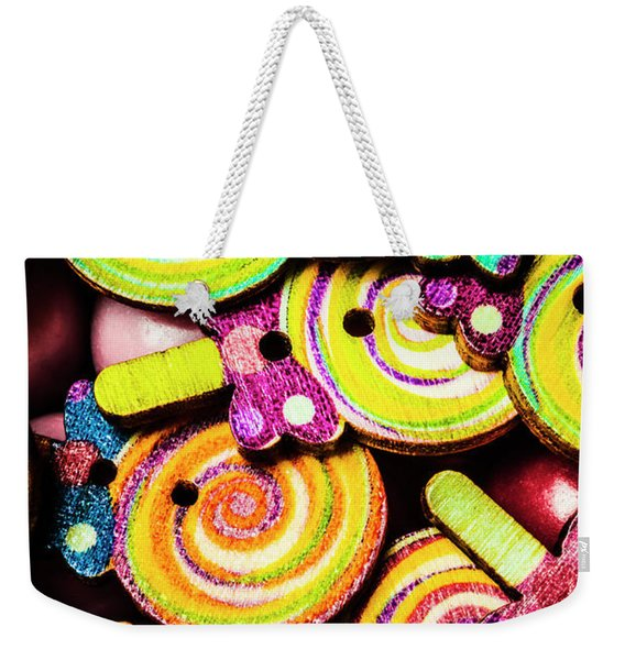 1960s Hypnotic Sweetness Weekender Tote Bag