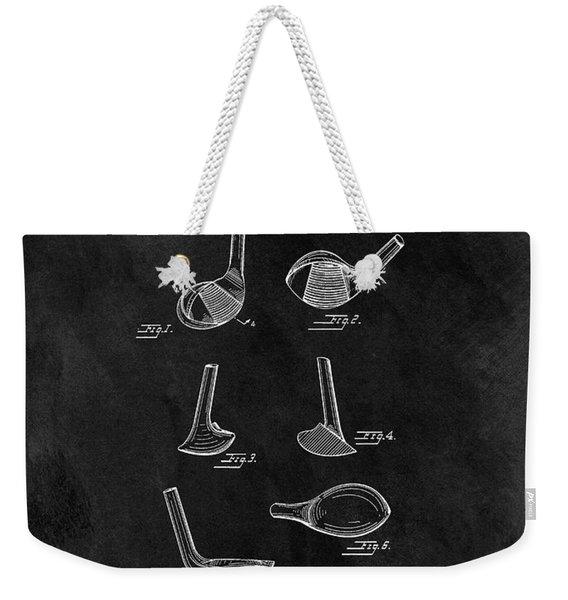 1961 Golf Club Head Patent Weekender Tote Bag