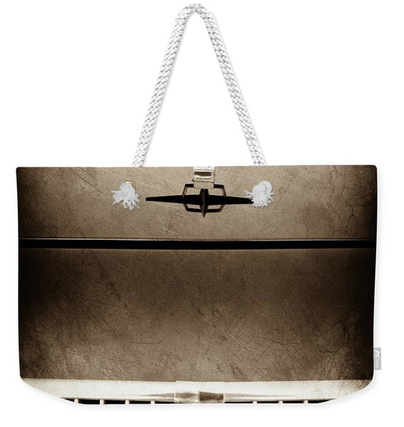 1961 Lincoln Continental Hood Ornament -0003s Weekender Tote Bag