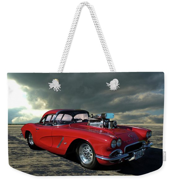 1962 Corvette Dragster Weekender Tote Bag