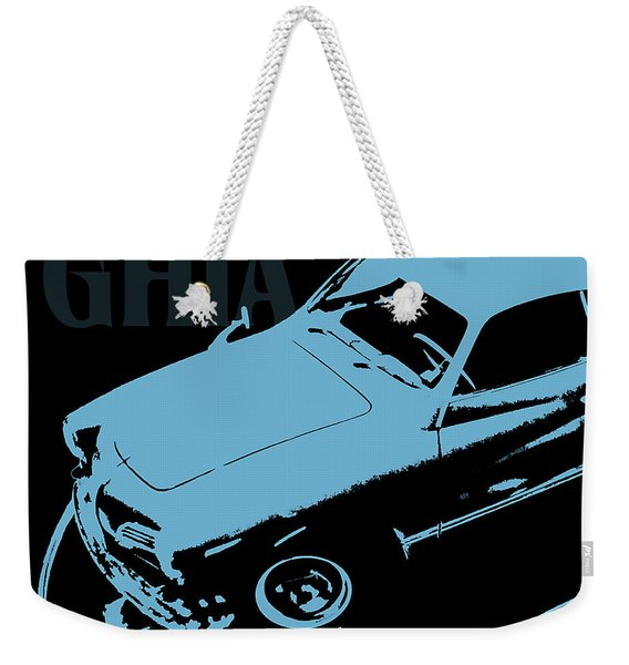 1962 Karmann Ghia Pop Art Blue Weekender Tote Bag