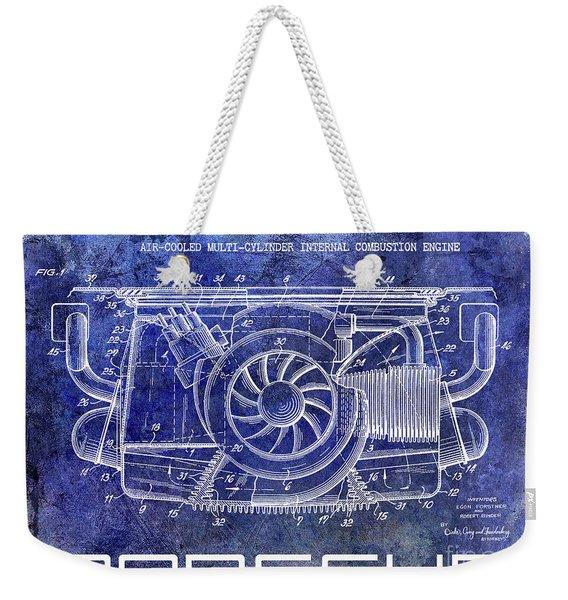 1962 Porsche Engine Patent Blue Weekender Tote Bag