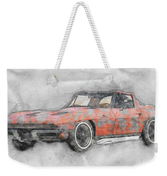 1963 Chevrolet Corvette Sting Ray 1 - 1963 - Automotive Art - Car Posters Weekender Tote Bag