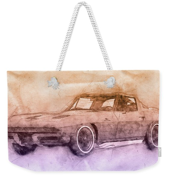1963 Chevrolet Corvette Sting Ray 2 - 1963 - Automotive Art - Car Posters Weekender Tote Bag