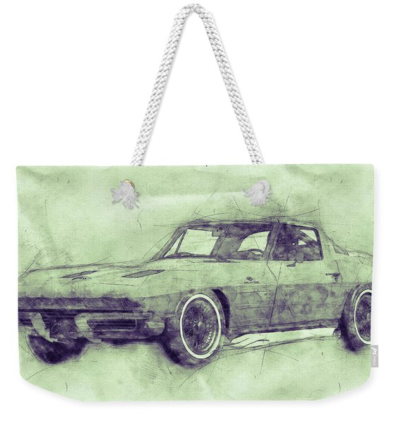 1963 Chevrolet Corvette Sting Ray 3 - 1963 - Automotive Art - Car Posters Weekender Tote Bag