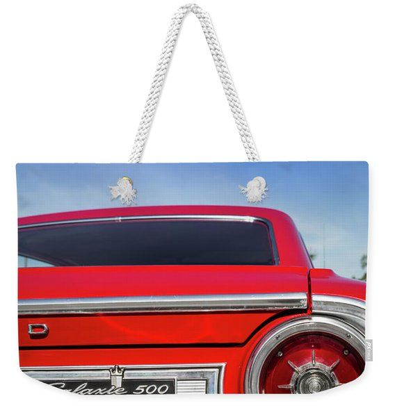 1964 Ford Galaxie 500 Taillight And Emblem Weekender Tote Bag