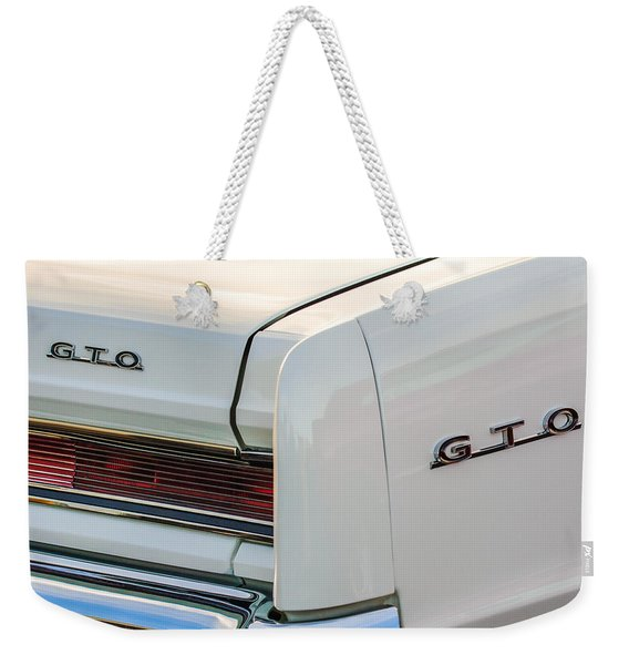 1964 Pontiac Gto Tail Light Emblems -0174c Weekender Tote Bag