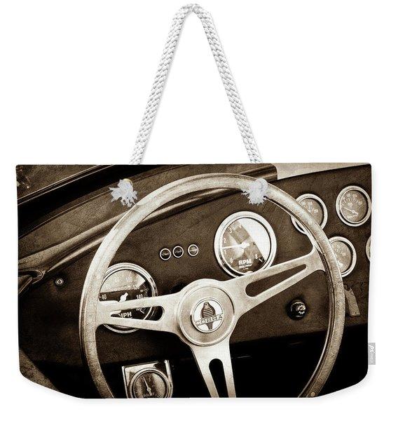 1965 Ac Cobra Steering Wheel Emblem -1216s Weekender Tote Bag