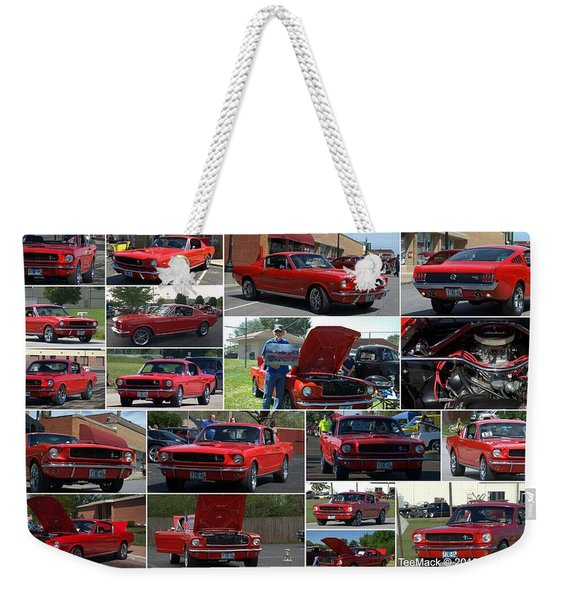 1965 Mustang Fastback Collage Weekender Tote Bag