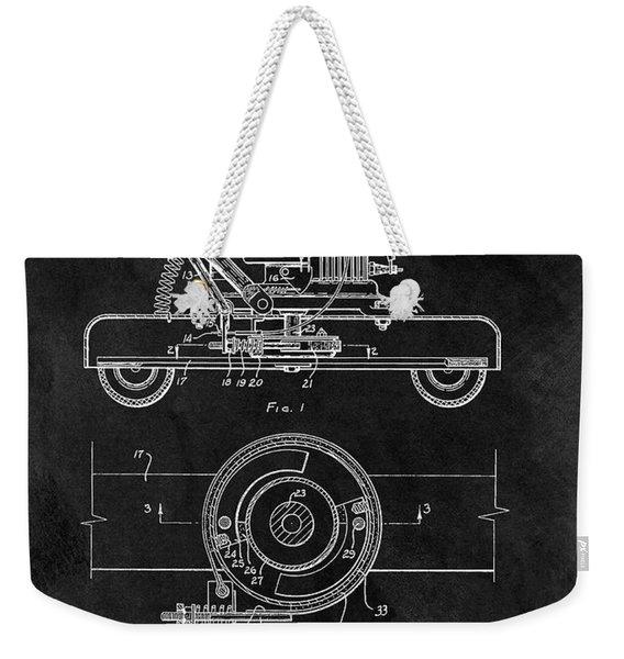 1966 Lawn Mower Patent Image Weekender Tote Bag