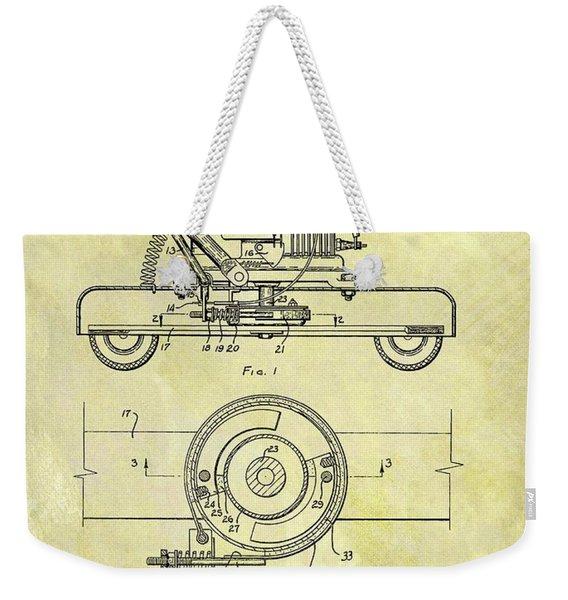 1966 Mower Patent Weekender Tote Bag