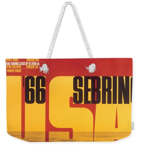 1966 Porsche 12 Hours Of Sebring Weekender Tote Bag