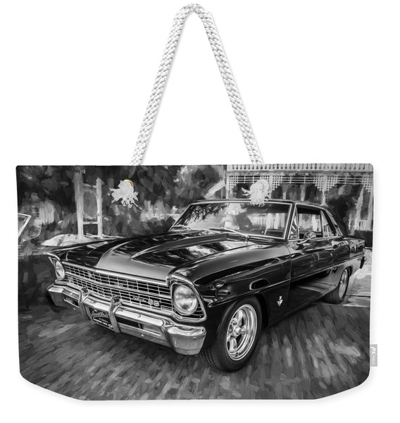 1967 Chevrolet Nova Super Sport Painted Bw 1 Weekender Tote Bag