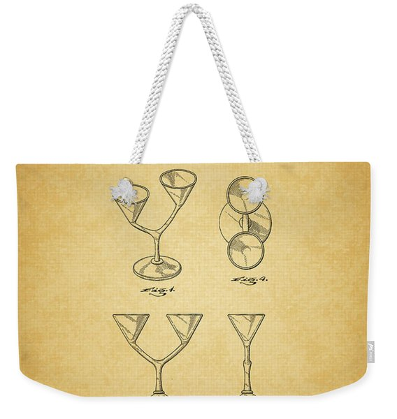 1967 Double Martini Glass Weekender Tote Bag