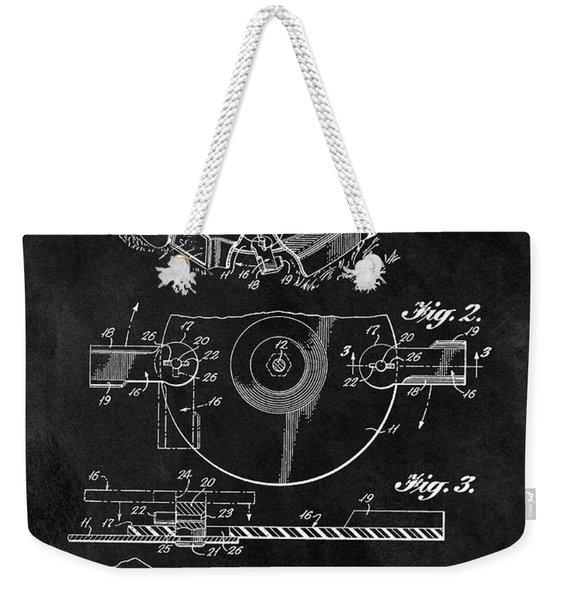 1967 Lawn Mower Patent Illustration Weekender Tote Bag