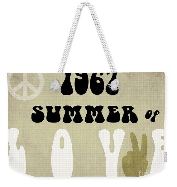 1967 Summer Of Love Newspaper Weekender Tote Bag