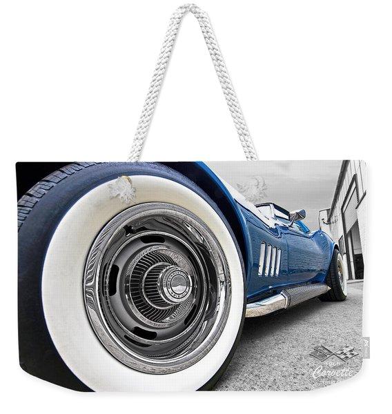 1968 Corvette White Wall Tires Weekender Tote Bag