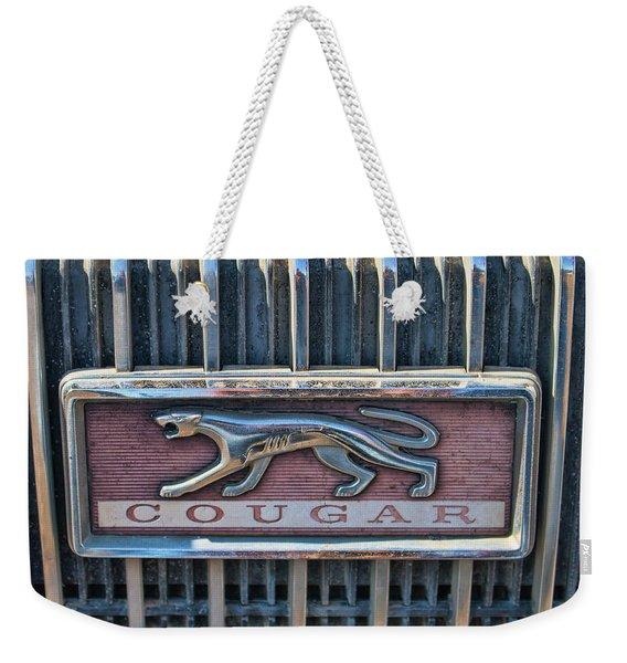 1968 Mercury Cougar Emblem Weekender Tote Bag