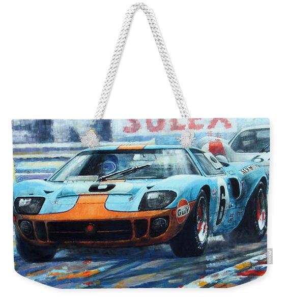 1969 Le Mans 24 Ford Gt 40 Ickx Oliver Winner  Weekender Tote Bag