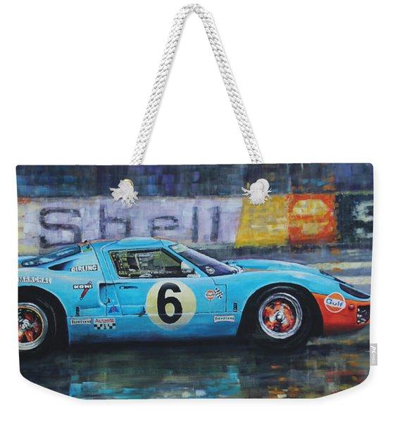 1969 Le Mans 24 Ford Gt40 Jacky Ickx Jackie Oliver Winner Weekender Tote Bag